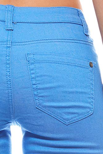 Pantalones verano Azul Cintura Jeans de Mujer Ajc Bootcut larga q6EEU