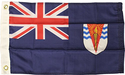 "British Antarctic Territory (Blue) - 12"" x 18"" Nylon World Flag"