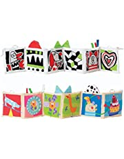COODIO Baby Multifunction Crib Bumper Baby Early Learning Cloth Book Puzzle Educational Toy Puppy style for Kids Gifts