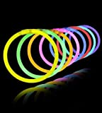 Red Rock Products Party Glow Sticks Bracelets (Pack Of 100)
