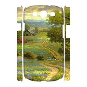3D Country Dirt Road Old Truck Painting Samsung Galaxy S3 Cases, Samsung Galaxy S3 Cases for Men Mens Designer Vinceryshop - White