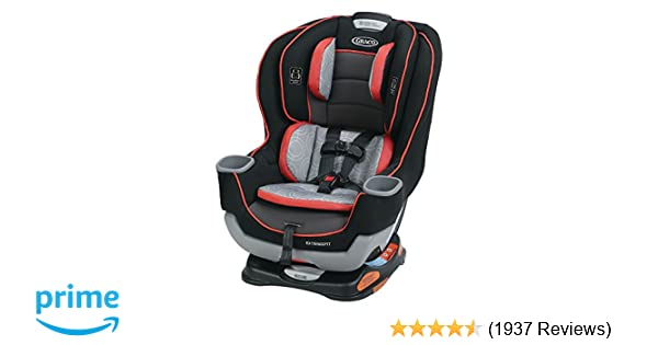 Amazon.com : Graco Extend2Fit Convertible Car Seat, Solar, One Size ...