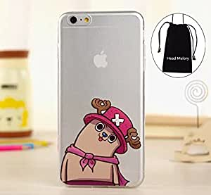 """Funny Crooked Neck Series TPU Soft Ultrathin Cartoon Case for Apple iphone 6plus (5.5"""") Transparent Pearlized iphone 6plus Back Cover,with Gift """"Head Malory"""" Logo Cellphone Bag Drawstring Pouch"""