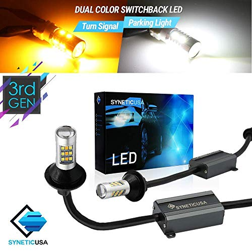 3157 Error Free Canbus Ready Dual Color Switchback LED Turn Signal Light Bulbs DRL Parking Lamp No Flicker All in One