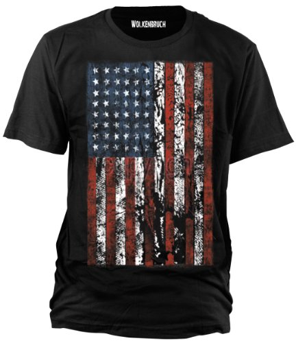 Wolkenbruch® T-Shirt USA Flag Distress, Gr.S - XXXXXL