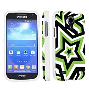 Samsung Galaxy S4 Mini SCH-I435 Verizon Desginer White Hard Case By SkinGuardz - Green Shocking Star