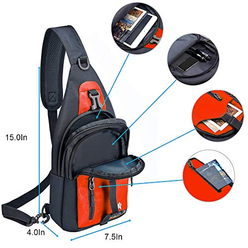 Y&R Direct Sling Backpack Sling Bag Travel Hiking Gifts for Kids Men Women