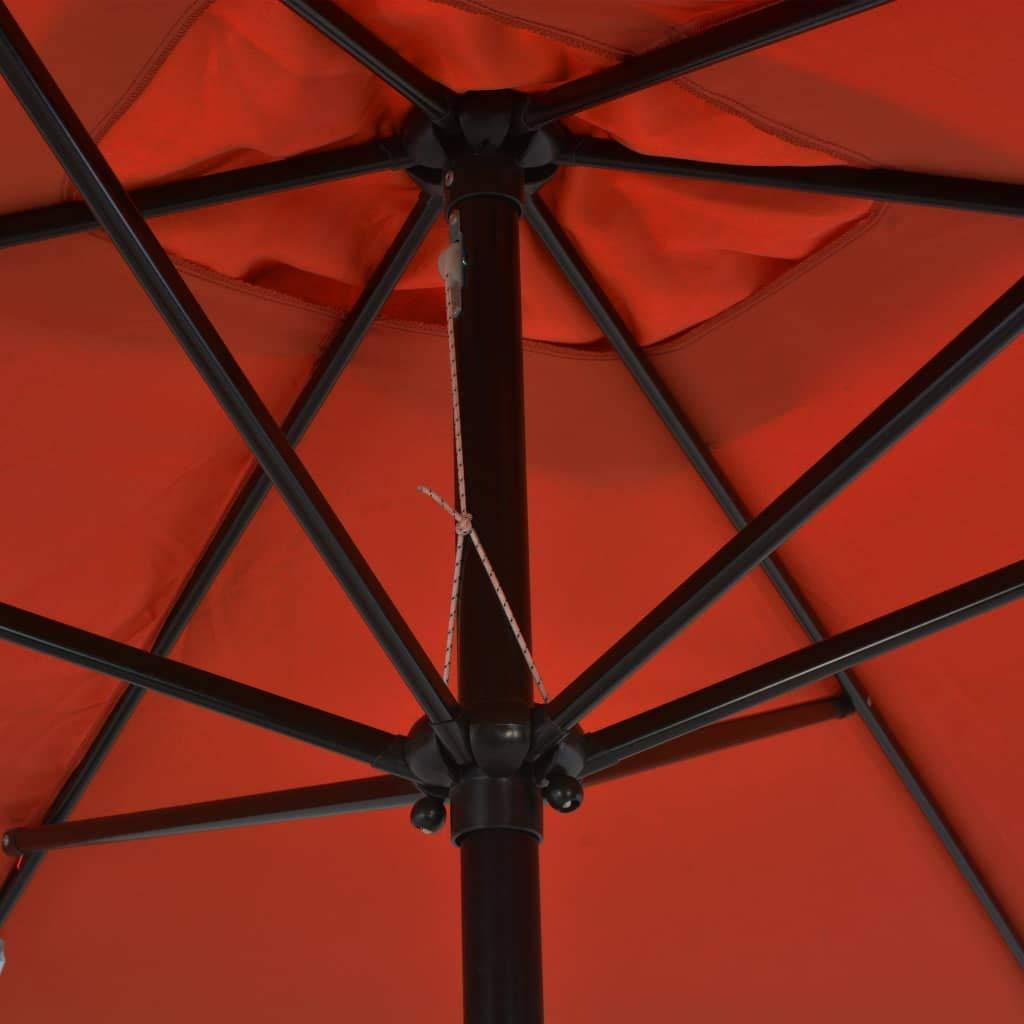 vidaXL Parasol avec M/ât en M/étal 300x200 cm Taupe Jardin Terrasse Patio Plage