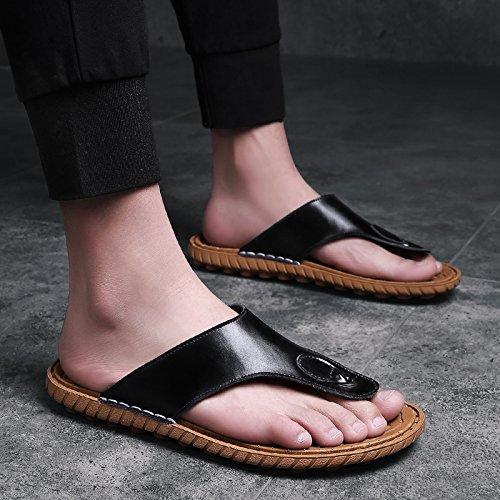 OME&QIUMEI Verano Masculino Calzado De Playa Sandalias Zapatillas Zapatillas Antideslizante 41 Un Negro 41|Un negro