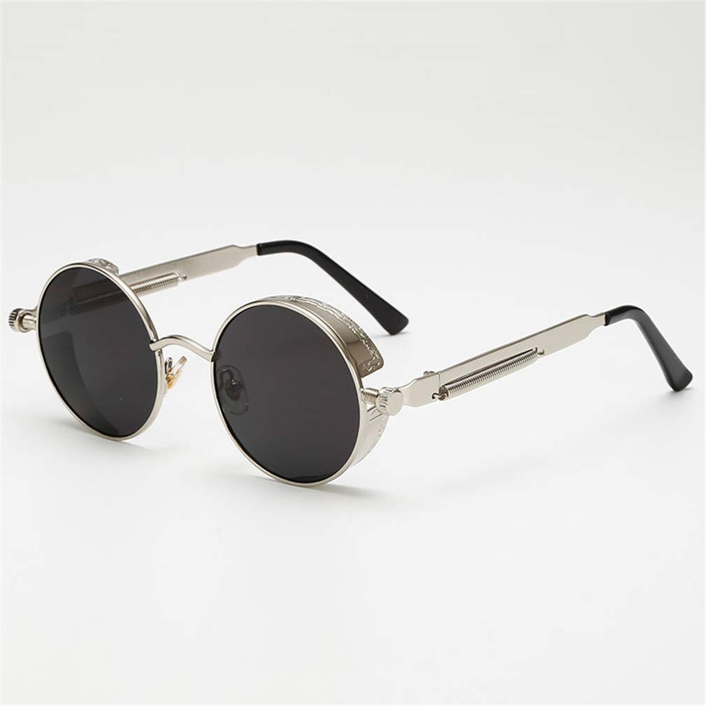 93be10de7782 Amazon.com  Metal Steampunk Sunglasses Men Women Fashion Round Glasses  Brand Design Vintage Sunglasses UV400 Eyewear Shades 01  Sports   Outdoors