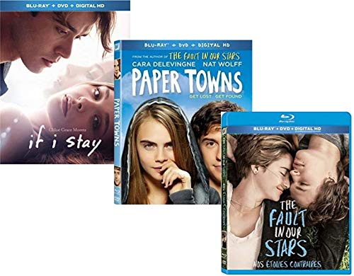 3-Feature Movie Collection - If I Stay / Paper Towns / The Fault in our Stars (DVD + BLU-RAY + DIGITAL COPY) (The Fault In Our Stars Blu Ray)