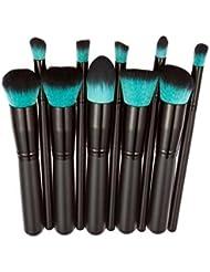 WuyiMC 10 Pcs Makeup Brush Set Cosmetics Foundation...