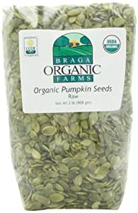 Braga Organic Farms Pumpkin Seeds, Raw, 2 Pound