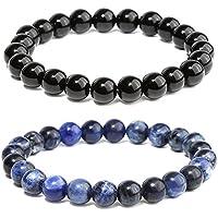 7 Chakras Healing Bracelet Amethyst Lava Stone Braided Rope Men Women Bracelet