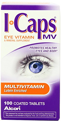 lcon ICaps Multivitamin Eye Vitamin & Mineral , Coated Tablets , 100 tablets (Pack of 4) , lcon-uk For Sale