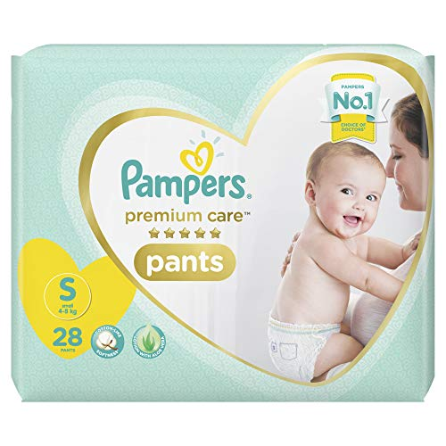 Pampers Premium Care Pants Diapers, Small, S 28 Count
