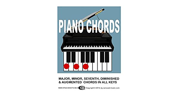 Piano Chords All Major Minor Seventh Augmented And Diminished