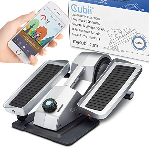 Cubii Under Desk Elliptical Machine - Exercise and Rehabilitate at Home or Office, Bluetooth Exerciser Syncs with Fitbit, Android, and iPhone by Cubii