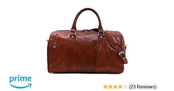 abd7cfb3f8e0 Floto Collection Duffle Bag in Brown Italian Calfskin Leather