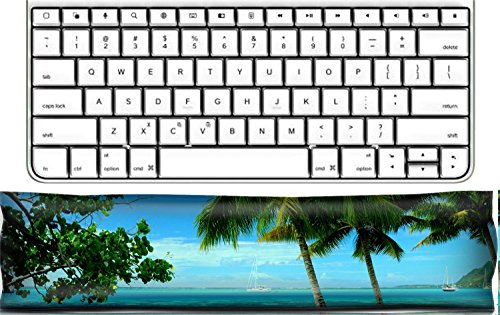 Luxlady Keyboard Wrist Rest Pad Office Decor Wrist Supporter Pillow IMAGE ID: 19602620 Moorea Tahiti Beach