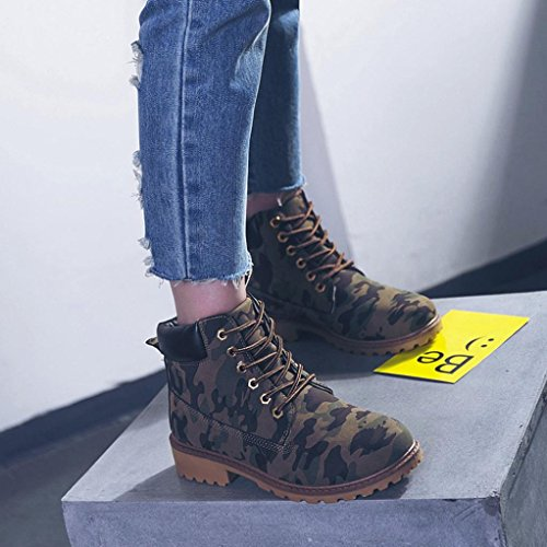 IGEMY de Martin Botas Botines Mujer Damas Zapatos de imitación Casual camuflaje Hrx4HRn