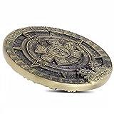 1pcs Mayan Aztec 3D Commemorative Coin Maya Civilization Stereoscopic Coin Collection 79mm (3d Mayan Aztec)