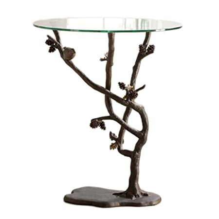 SPI Home 33491 Bird and Pinecone End Table
