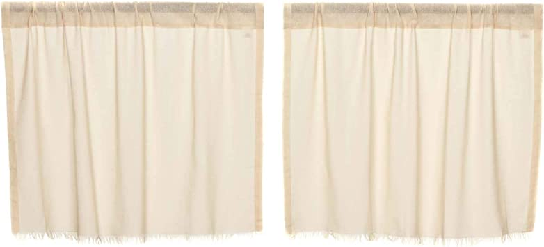 """Lined Tobacco Cloth Natural Tier Set by VHC Brands 24/"""" x 36/"""""""