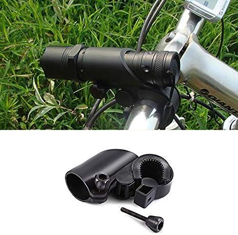 LMIAOM Bicicleta Bicicleta Linterna Soporte Soporte de Montaje 360 ...