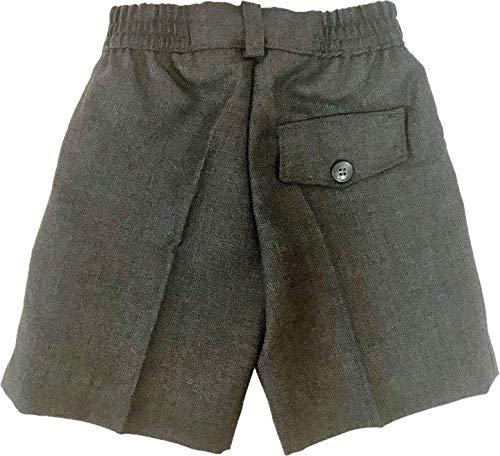 51G0s4t5pAL Pantalón corto gris para uniforme escolar Fabricado en España 100% Poliéster