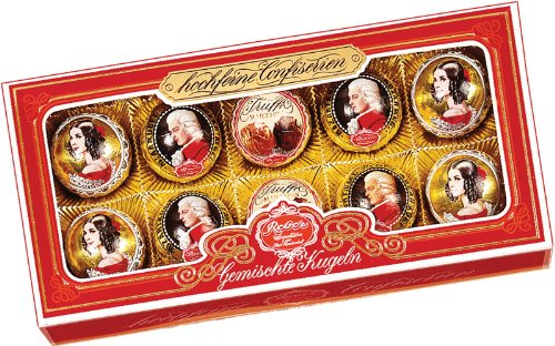 Reber 10 Piece Mozart, Constanze and Truffle Assorted Gift Box, 7.05 Ounce