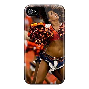 AlisaDepartment Case Cover Protector Specially Made For Iphone 4/4s Denver Broncos Cheerleaders