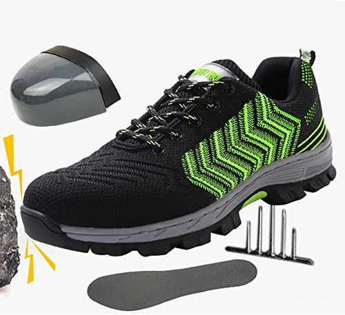 2018 Men Steel-Toe Safety Shoes Fashion Hiking Boots Construction Work Shoes by AiKim (Image #5)