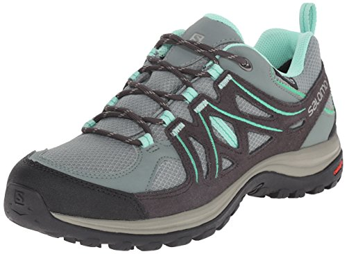 Salomon Women's Ellipse 2 CS Waterproof W Hiking Shoe, Light TT/Asphalt/Jade Green, 7 B US by Salomon