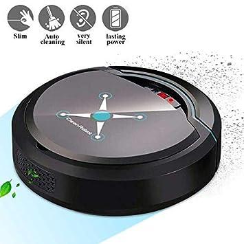 lesgos Robot Aspirador Inteligente, Sensores Inteligentes de succión Fuerte Autocarga Robot Inteligente Aspirador automático Limpiador