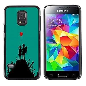 Design for Girls Plastic Cover Case FOR Samsung Galaxy S5 Mini, SM-G800 cute love art heart boy girl war fight OBBA