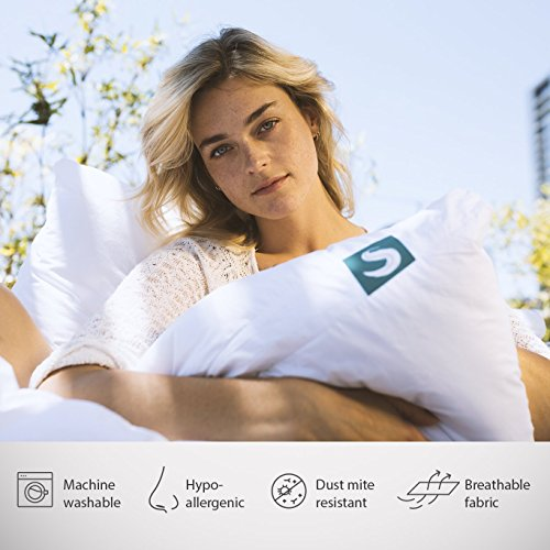 Sleepgram Premium Adjustable Loft-Soft Hypoallergenic Microfiber Pillow with Washable Removable Cover, King