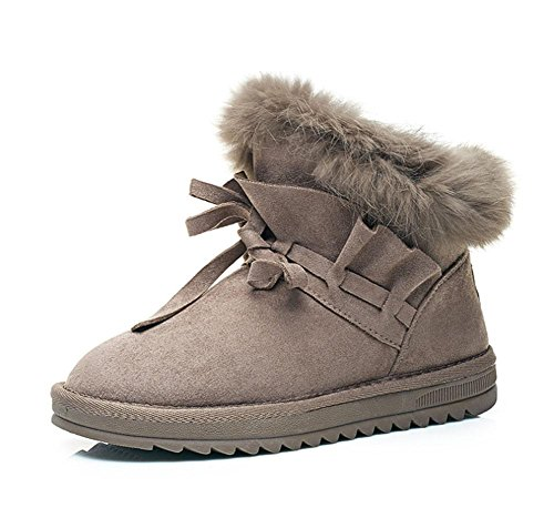 MEILI Schneeschuhe, Schneeschuhe, warme, Baumwollschuhe, Schnee Baumwolle, kurze Röhre, plus Samt, Mode, lässig, wild 001