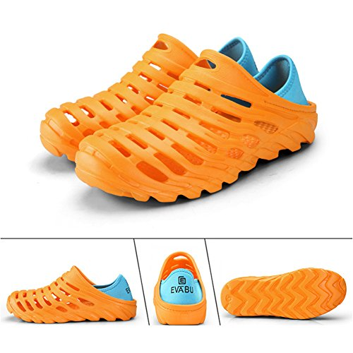 Leader show Mens Summer Pull-On Beach Water Shoes Light Hollow Out Slippers Sandal Clogs Orange nW6dW