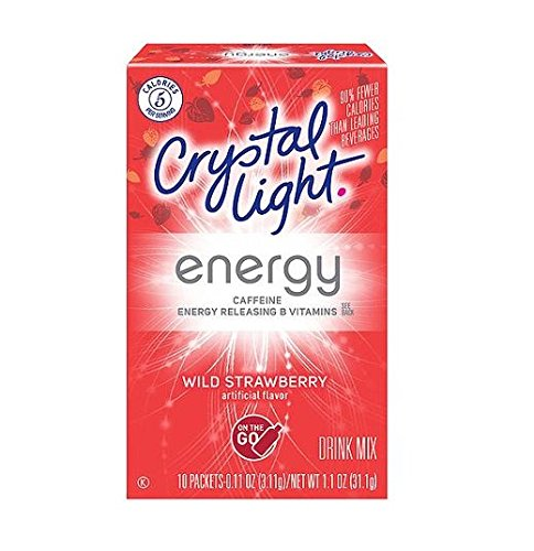"Crystal Light on the Go ""Caffeine"" Wild Strawberry Drink ..."