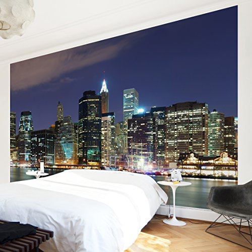 Fotomural-Manhattan-in-New-York-City-Wall-Mural-apaisado-papel-pintado-fotomurales-murales-pared-papel-para-pared-foto-mural-pared-barato-decorativo