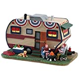 #4: Lemax 2018 Summer Americana Summer Trailer Lighted Porcelain Building 85392