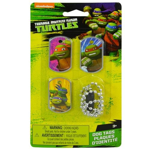 Ninja Turtles Dog Costumes (Nickelodeon Teenage Mutant Ninja Turtles Dog Tags - TMNT - Set of 3)