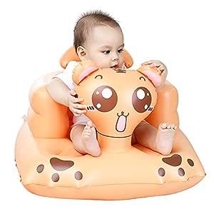 Comaie Silla Hinchable de Asiento Seguro para bebé, Multifuncional, Ideal para la Cena o la baño, para bebés