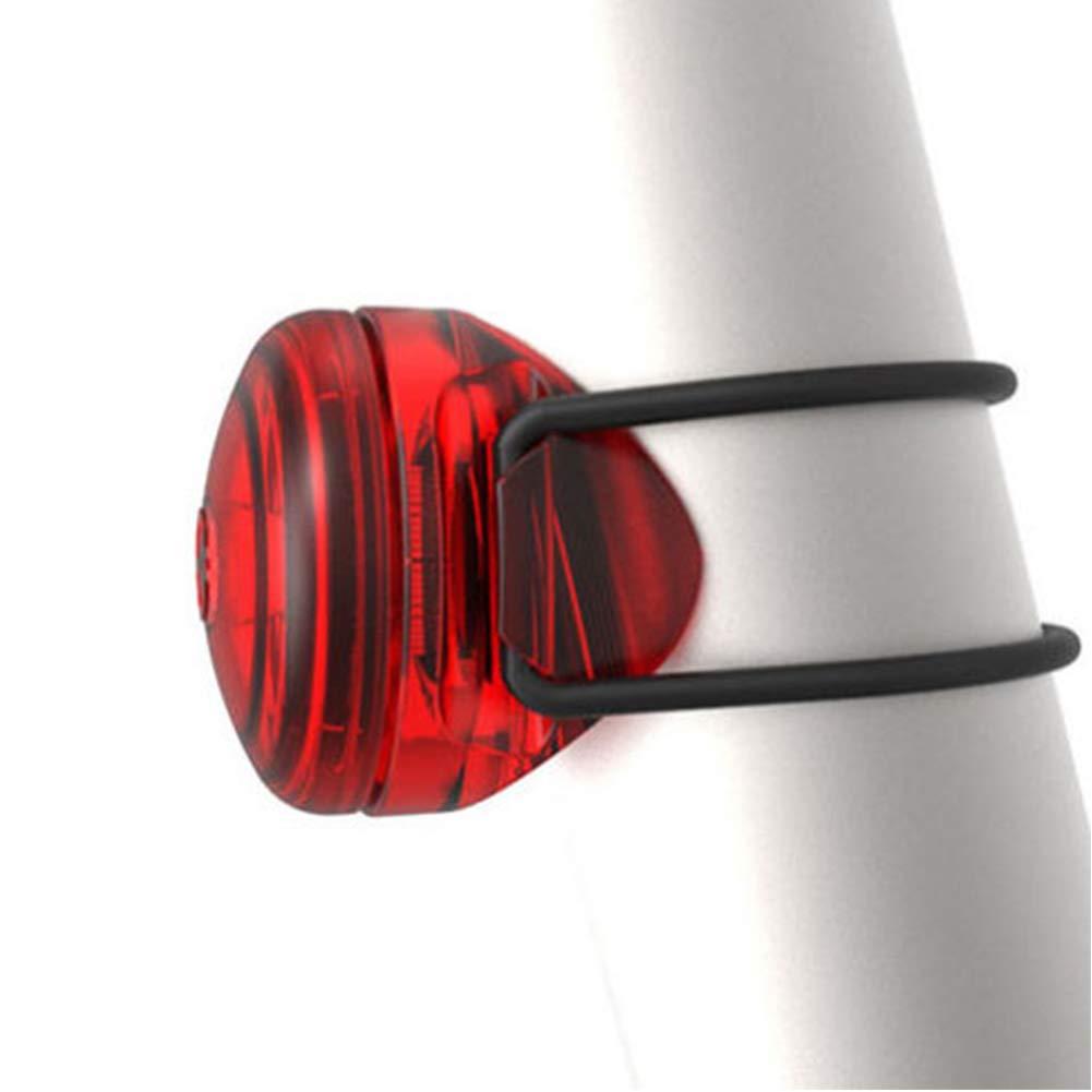 Qq lampe de v/élo v/élo D/écoration lampe free size Red v/élo l/éger durable voyant davertissement arri/ère amovible V/élo universel