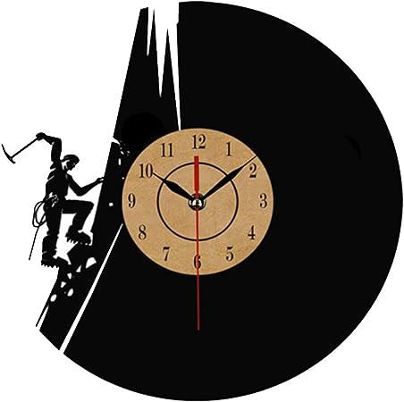 HYCZW Reloj De Vinilo De Escalada En Roca Reloj De Pared ...