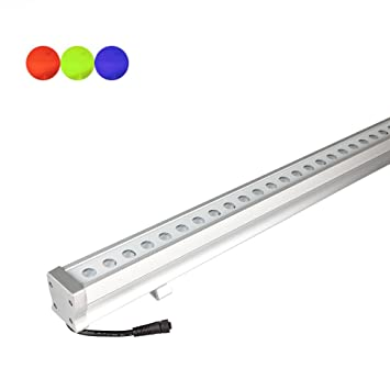 Amazon rgb linear bar wall washer led light color changing rgb linear bar wall washer led light color changing multicolor lighting effect outdoor mozeypictures Gallery