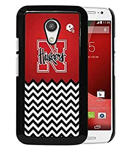 Nebraska Huskers Black Newest Custom Design Motorola Moto G 2nd Generation Phone Case