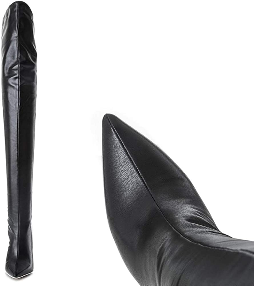 Bottes Stretch Ultra-Stretch, Au-Dessus Du Genou, Bottes Slim-Fit, Plus Bottes En Molleton Patentleather12cm
