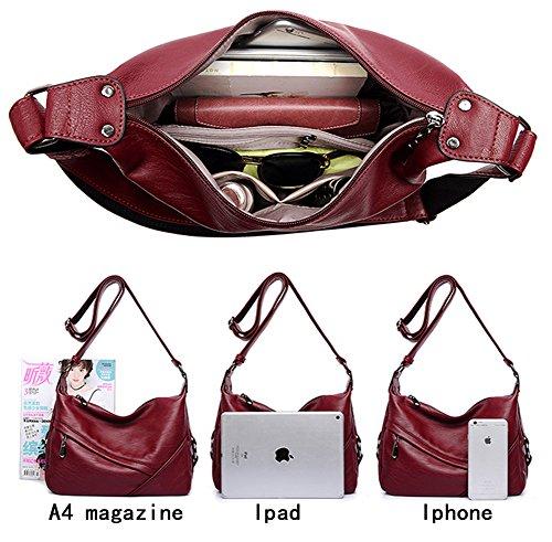 PU Purse Bags Shoulder Big Leather Wine Molodo Tote Bag Women red Handbag 5Twqff
